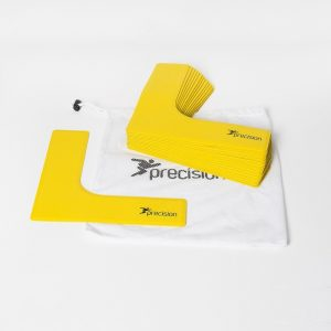 Precision L shaped cones yellow